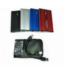 """Карман 2,5""""корпус металл ,интерфейс USB2.0 / SATA, Silver"""