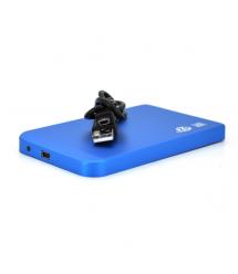 """Карман 2,5""""корпус металл ,интерфейс USB2.0 / SATA, Blue"""