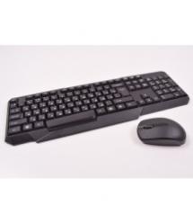 Комплект беспроводной (KB+Mouse+Радио) W1080 Black, (Eng / Pyc), 2.4G, USB nano, Box