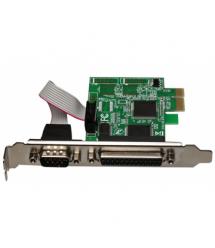 Контроллер PCI-Е-RS232(9Pin)+LPT(25Pin), TX382A, BOX
