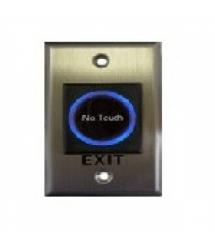 Кнопка выхода сенсорная, врезная, NO - NC - C, нержавейка, диодная подсветка кнопки выхода, DC 12V