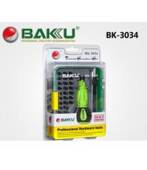 Набор отвёрток BAKKU BK-3034(Ручка+34насадок),Box