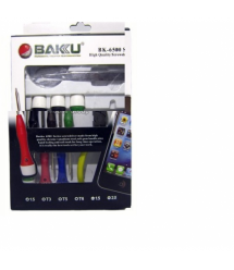 """Набор инструментов BAKKU BK-6500 (Отвёртки: T1,5, T3, T5, T6, """"мерс""""1.5, крест1.7, Пинцеты:прямой, изогнутый, бокорезы,Blister-b"""