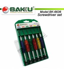 Набор отверток BAKKU BK-6636 (T2, T5, T6+ 1.8 / Y2.0, 1.8), Box