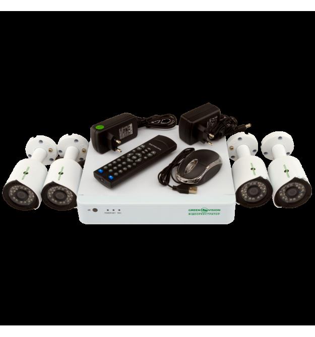 Комплект видеонаблюдения Green Vision GV-K-S13/04 1080P