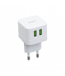 Набор 2 в 1 СЗУ With Iphone Cable 110-240V MY-A200, 2 x USB, 5V / 12W, Output: 5V / 2.4A, White, Blister- box, Q25