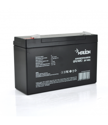 Аккумуляторная батарея MERLION AGM GP614F2 6 V 14Ah ( 150 x 50 x 95 (100) ) White / Black Q10