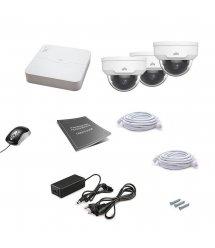 Комплект IP видеонаблюдения Uniview 3DOME 4MEGA