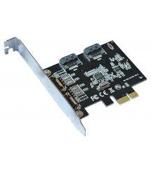 Контроллер PCI-E SATA 3.0, ASM1061, 6Gb / s, 2 порта внутренних, BOX