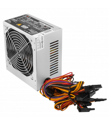 Блок питания ATX-500W, 12см, 4 SATA, CE,FCC, PCI DX2 6PIN+2PIN OEM, BLACK без кабеля питания