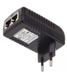 POE инжектор RITAR RT-PIN-48 - 24EU, 48V 0,5A (24Вт) с портами Ethernet 10 - 100 - 1000Мбит - с, EU PLUG