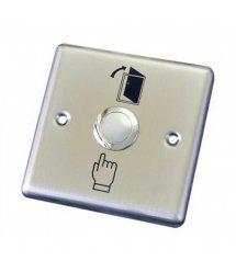 Кнопка выхода врезная, NO / NC / C, алюминий, максим.ток 3А, 86х86х20мм