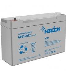 Аккумуляторная свинцово-кислотная батарея MERLION AGM GP612F1 6 V 12Ah Q10