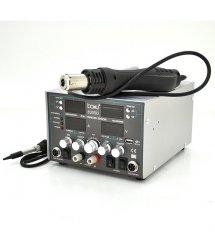 Паяльная станция BAKKU BA-8305D цифровая индикация, фен, паяльник, БП DC 0-30В, 5A (340*278*208) 5,1 кг