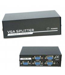 Активный сплиттер VGA сигнала KV-FJ2504S 150MHz 4 Port, DC5V / 2A