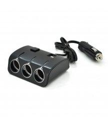 АЗУ разветвитель Olesson 1506, 12V-3*12V+2*USB, Black, Blister
