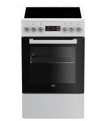 Плита електрична Beko FSM57300GW - склокераміка/50х60 см/4 зони/7 функц/дисплей/60л/білий