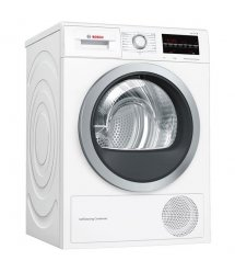 Сушильний барабан Bosch WTW85461BY - 60 см/9кг/Heat-Pump/дисплей/А++/білий