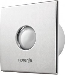 Вытяжной вентилятор Gorenje BVX150SHS, 25 Вт, 210 м3/ч, 1650 об./мин,таймер,датчик влажности,серебро
