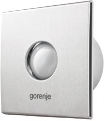 Вытяжной вентилятор Gorenje BVX150STS, 25 Вт, 210 м3/ч, 1650 об./мин, таймер, серебро