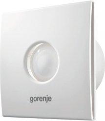 Вытяжной вентилятор Gorenje BVX100WTS, 15 Вт, 70 м3/ч, 2400 об./мин, таймер, белый
