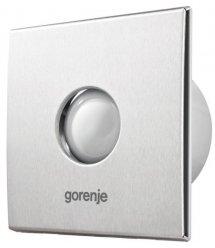 Вытяжной вентилятор Gorenje BVX100STS,15 Вт, 70 м3/ч, 2400 об./мин, таймер, серебро