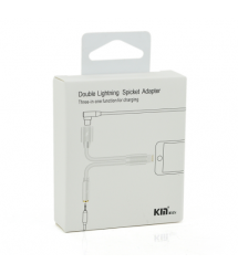 Переходник 2 в 1 Kin KY-177 (Lightning to Jack 3.5mm to Lightning), White - Grey, Box