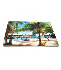 Коврик 240*200 тканевой Пляж, толщина 2 мм, Пакет