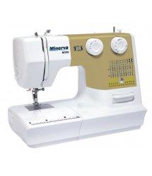 Швейная машина МINERVA M320, электромех., 36 швейные операции, белый/золотой