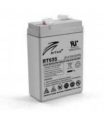 Аккумуляторная батарея AGM RITAR RT655, Gray Case, 6V 5.5Ah ( 70х47х99 (105) ) Q20