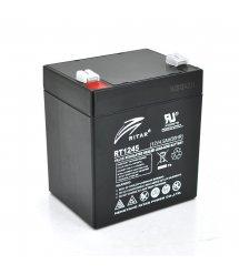 Аккумуляторная батарея AGM RITAR RT1245B, Black Case, 12V 4.5Ah ( 90 х 70 х 101 (107) ) Q10