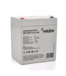 Аккумуляторная батарея MERLION AGM GP1245F1, 12V 4.5Ah ( 90 х 70 х 100 (105) ) Q10