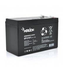 Аккумуляторная батарея MERLION AGM GP1272F1 12 V 7,2 Ah ( 150 x 65 x 95 (100) ) White / Black Q10