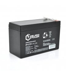 Аккумуляторная батарея EUROPOWER AGM EP12-7.2F2 12 V 7,2 Ah ( 150 x 65 x 95 (100) ) 1,85 кг Black Q10