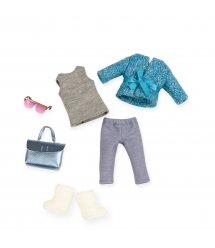 Набір одягу для ляльок LORI блакитне пальто LO30005Z