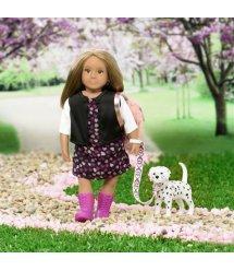 Лялька LORI 15 см Гіа з собачкою Далматинець LO31058Z