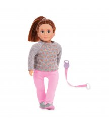 Лялька LORI 15 см Розалінда з повідком для вигулу собак LO31113Z