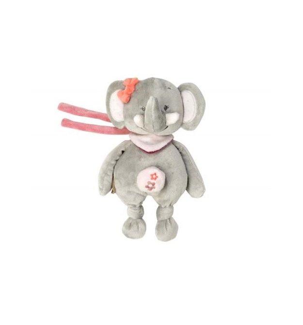 Nattou Мягкая игрушка 21см с музыкой слоник Адель 424080