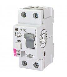 Реле диференційне ETI (УЗО) EFI6-2 25/0,03 тип AC (6kA)