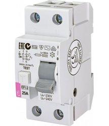 Реле диференційне (УЗО) ETI EFI-2 25/0,03 тип AC (10kA)