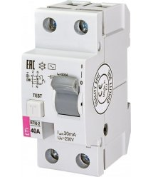 Реле диференційне ETI (УЗО) EFI6-2 40/0,03 тип AC (6kA)