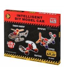 Конструктор металлический Same Toy Inteligent DIY Model Car 3в1 117 эл. 58042Ut