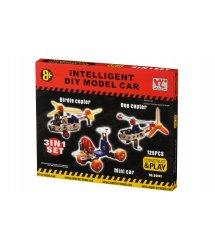 Конструктор металевий Same Toy Inteligent DIY Model Car 3в1 125 ел. 58041Ut