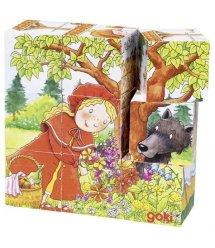 Кубики деревянные goki Время сказок 57542G