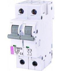 Автоматичний вимикач ETI ETIMAT 6 2p С 25А (6 kA)