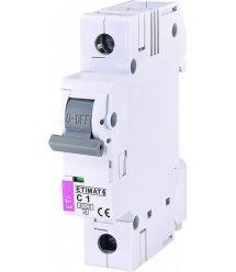Автоматичний вимикач ETI ETIMAT 6 1p C 1A (6kA)