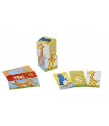 Кубики деревянные goki Животные 57725G