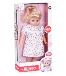 Кукла Same Toy белое платье в розовый цветочек 45 см 8010BUt-1