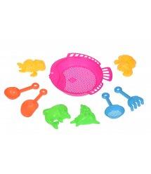 Набор для игры с песком Same Toy 9 ед розовый B002-2Ut-2
