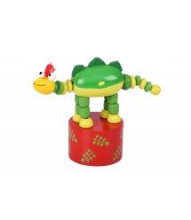 Игрушка goki нажми и тряси Динозавр зеленый 53948G-4